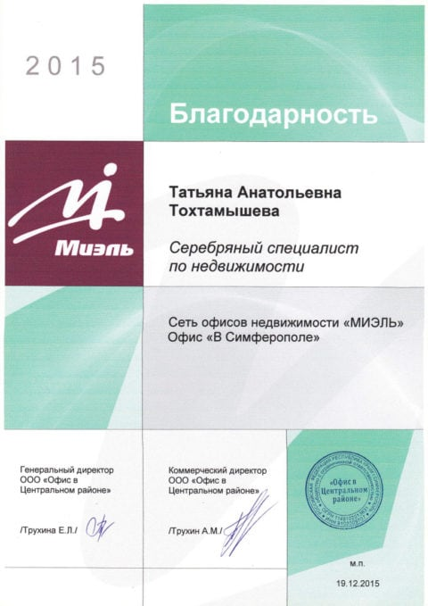 благодарность Тохтамышева